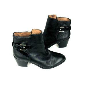Louise et Cie 7M LO-Zalia Black Leather Ankle Boot